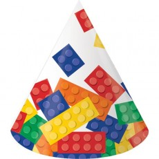 Block Party Party Supplies - Party Hats Cone