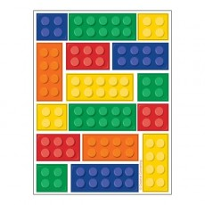 Block Party Party Supplies - Favours Stickers