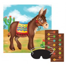 Mexican Fiesta Pin the Tail on the Donkey Party Game