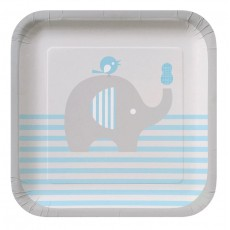 Little Peanut Boy Paper Lunch Plates
