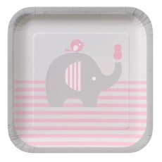 Little Peanut Girl Paper Lunch Plates