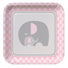 Little Peanut Girl Paper Dinner Plates