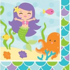 Mermaid Friends Lunch Napkins