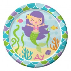 Mermaid Friends Paper Lunch Plates
