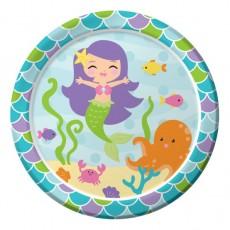Mermaid Friends Paper Dinner Plates