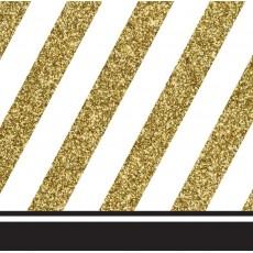 Gold Black &  Beverage Napkins