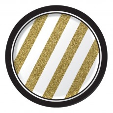 Gold Black & Paper Lunch Plates
