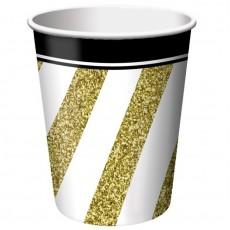 Gold Black &  Paper Cups