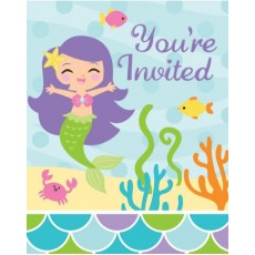 Mermaid Friends Invitations
