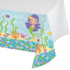 Mermaid Friends Plastic Table Cover
