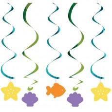 Mermaid Friends Dizzy Danglers Swirls Hanging Decorations