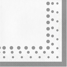 Silver Sparkle & Shine Lunch Napkins