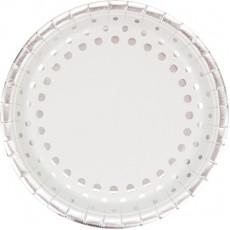 Silver Sparkle & Shine Banquet Plates