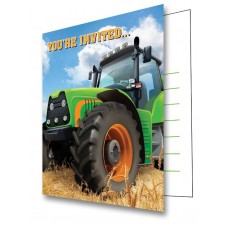 Tractor Time You're Invited Invitations