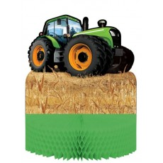 Tractor Time Honeycomb Centrepiece