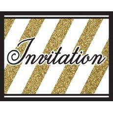 Gold Black & Foldover Invitations