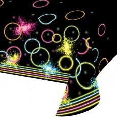 Happy Birthday Glow Party Plastic Table Cover 137cm x 259cm