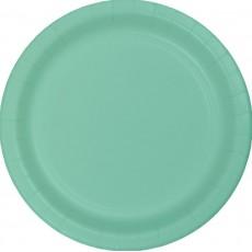 Fresh Mint Green Paper Banquet Plates 26cm Pack of 24