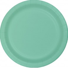Green Fresh Mint Paper Banquet Plates