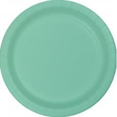 Fresh Mint Green Paper Dinner Plates 23cm Pack of 24