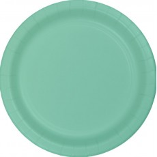 Green Fresh Mint Paper Dinner Plates