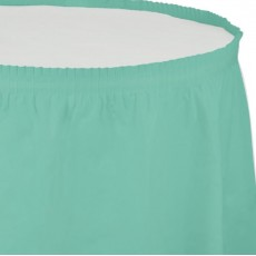 Green Fresh Mint Plastic Table Skirt