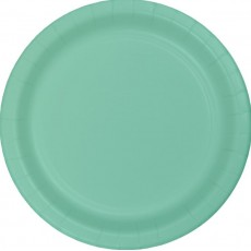 Fresh Mint Green Paper Lunch Plates 18cm Pack of 24