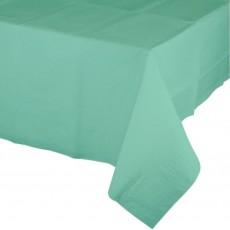 Fresh Mint Green Tissue & Plastic Back Plastic Table Cover