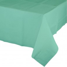 Green Fresh Mint Tissue & Plastic Back Plastic Table Cover