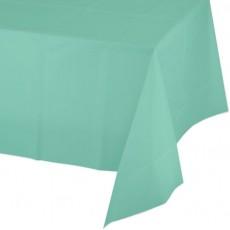 Fresh Mint Green Plastic Table Cover 137cm x 274cm
