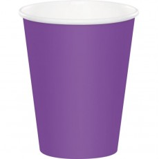 Amethyst Purple Hot & Cold Paper Cups 266ml Pack of 24