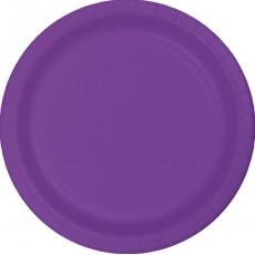 Purple Amethyst Paper Banquet Plates