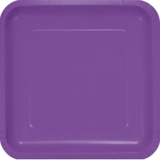 Purple Amethyst Paper Dinner Plates