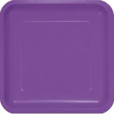 Purple Amethyst Paper Dinner Plates