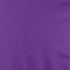 Amethyst Purple Beverage Napkins 25cm x 25cm Pack of 50