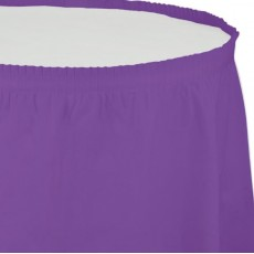 Purple Amethyst Plastic Table Skirt