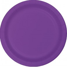 Amethyst Purple Paper Lunch Plates 18cm Pack of 24
