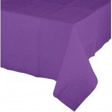 Amethyst Purple Tissue & Plastic Back Table Cover 137cm x 274cm