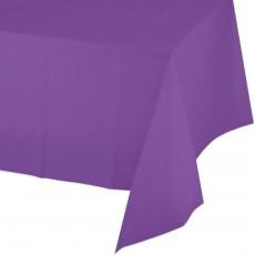 Amethyst Purple Plastic Table Cover 137cm x 274cm