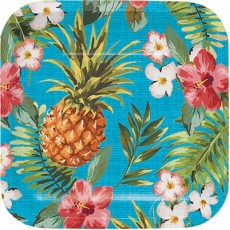 Hawaiian Luau Aloha Lunch Plates