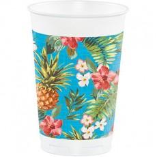 Hawaiian Party Decorations Aloha Tumblers Plastic Cups