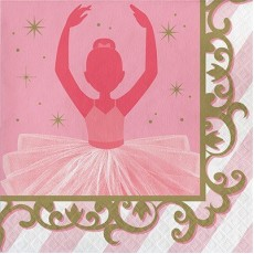 Twinkle Toes Party Supplies - Lunch Napkins