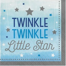 Boy One Little Star Twinkle Twinkle Lunch Napkins