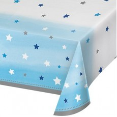 Boy One Little Star Plastic Table Cover 137cm x 259cm