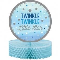 Boy One Little Star Honeycomb Twinkle Twinkle Little Star Centrepiece 30cm x 22cm