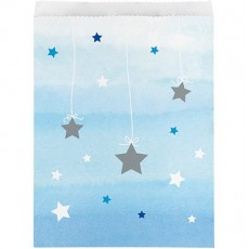 Boy One Little Star Paper Treat Favour Bags 22cm x 16cm Pack of 10