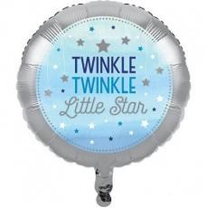 Round Boy One Little Star Twinkle Twinkle Little Star Foil Balloon 45cm