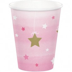 Girl One Little Star Paper Cups 266ml Pack of 8
