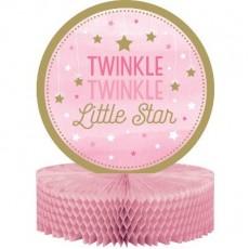 Girl One Little Star Honeycomb Twinkle Twinkle Little Star Centrepiece 30cm x 22cm