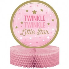 Girl One Little Star Twinkle Twinkle Honeycomb Centrepiece
